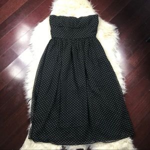 J.Crew Emily strapless dress chiffon polka dot
